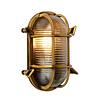Lucide DUDLEY Buiten Wandlamp Ovaal IP65 E27/60W Mat gou