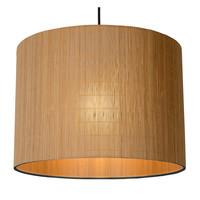 MAGIUS Hanglamp Rotan E27/40W Zwart/natuurkleur