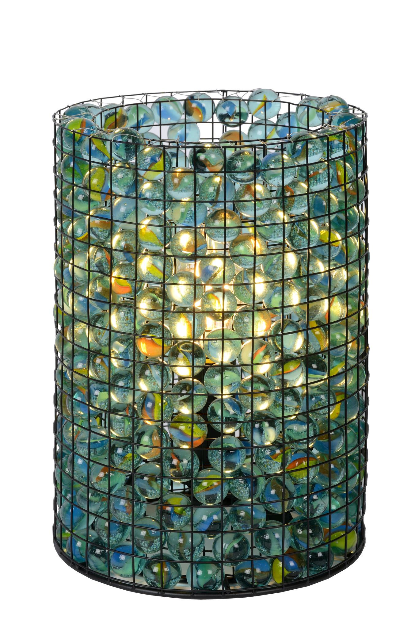 Lucide EXTRAVAG. Tafellamp-Transp.-Ø15-1xE14-40W-Glas