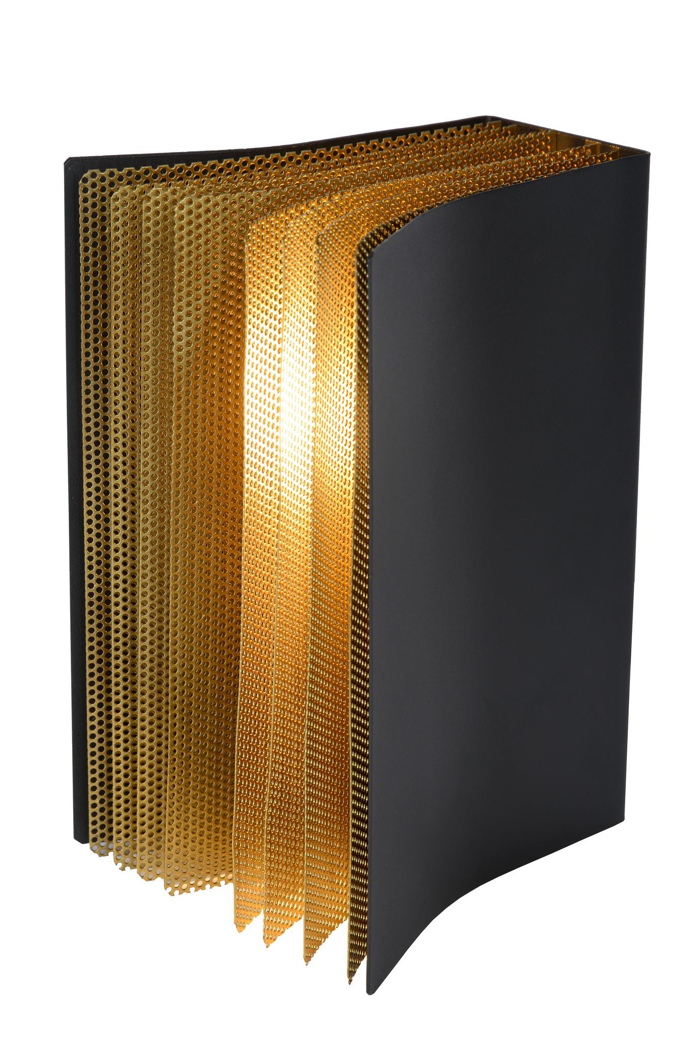 Lucide LIVRET Tafellamp E14/40W Zwart / Goud