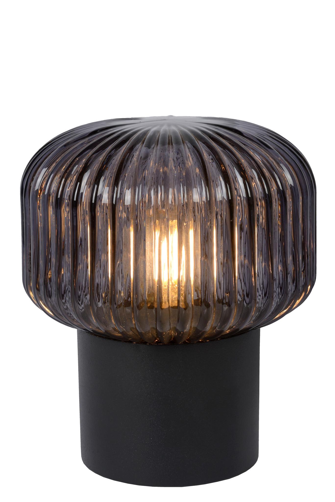 Lucide JANY Tafellamp-Zwart-Ø16-1xE14-40W-Glas