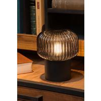 JANY Tafellamp E14/40W Zwart / Smoke glas
