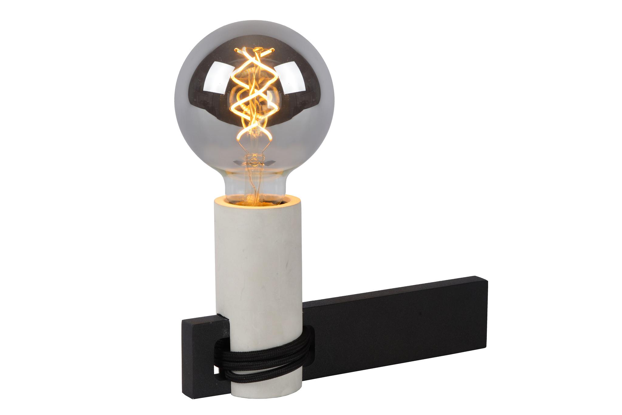 Lucide TANNER Tafellamp-Zwart-1xE27-60W-Alumin.