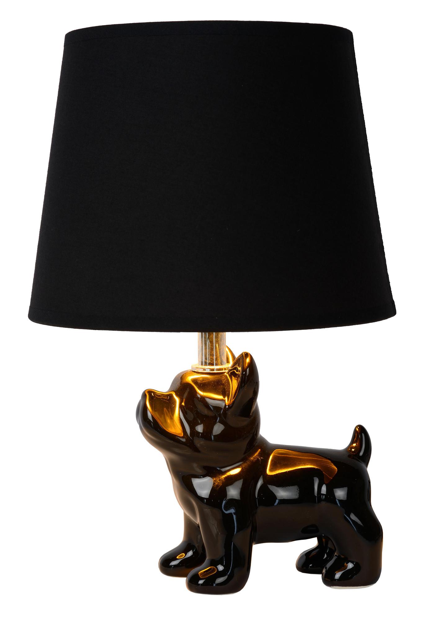Lucide SIR WINSTON Tafellamp E14/40W 31.5H Zwart/Zwart