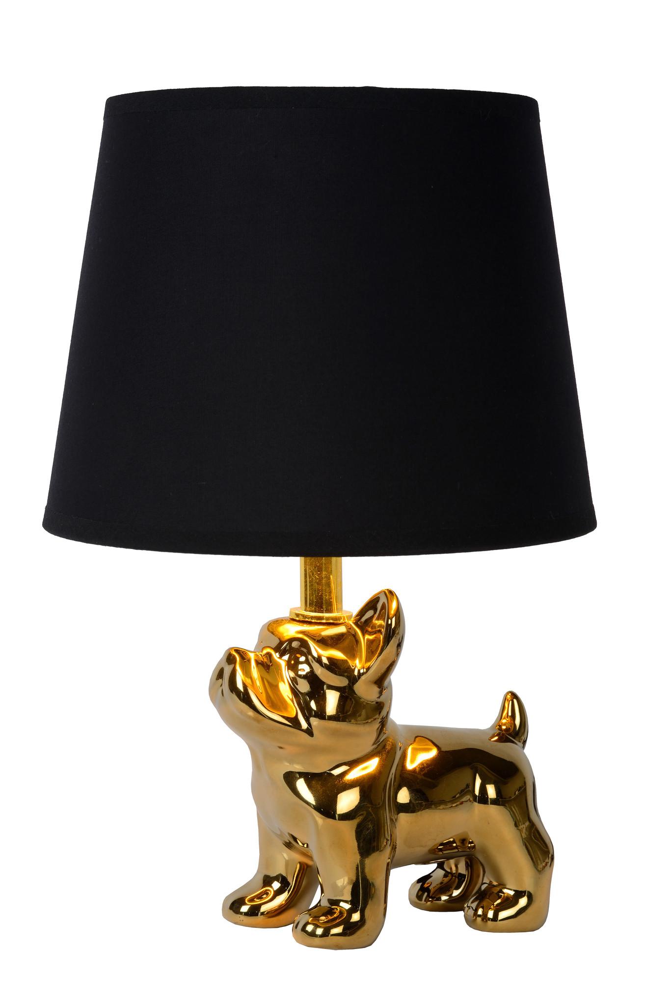 Lucide SIR WIN. Tafellamp-Goud-1xE14-40W-Porsel.