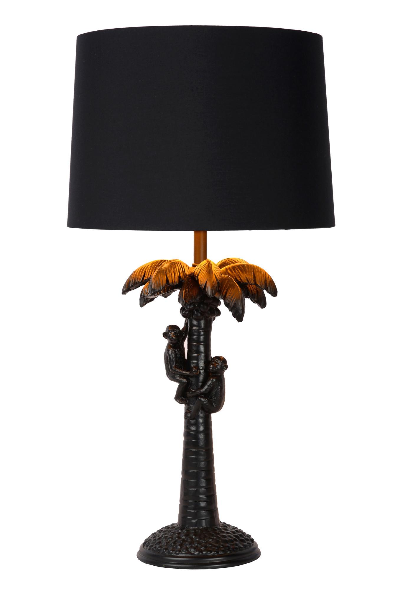 Lucide COCONUT Tafellamp E27/40W H50cm Zwart