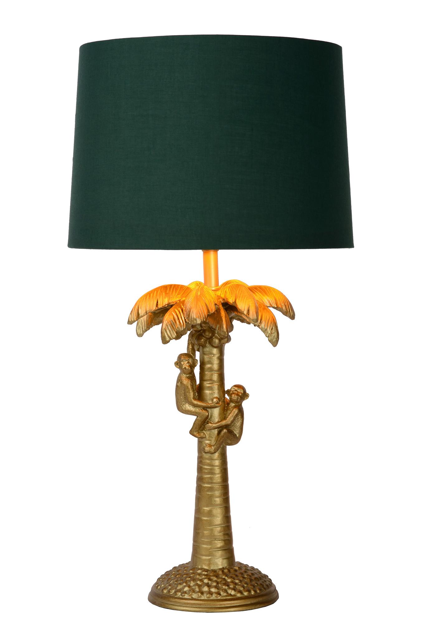 Lucide COCONUT. Tafellamp-Mat Go.-Ø30,5-1xE27-40W-Kunsts.