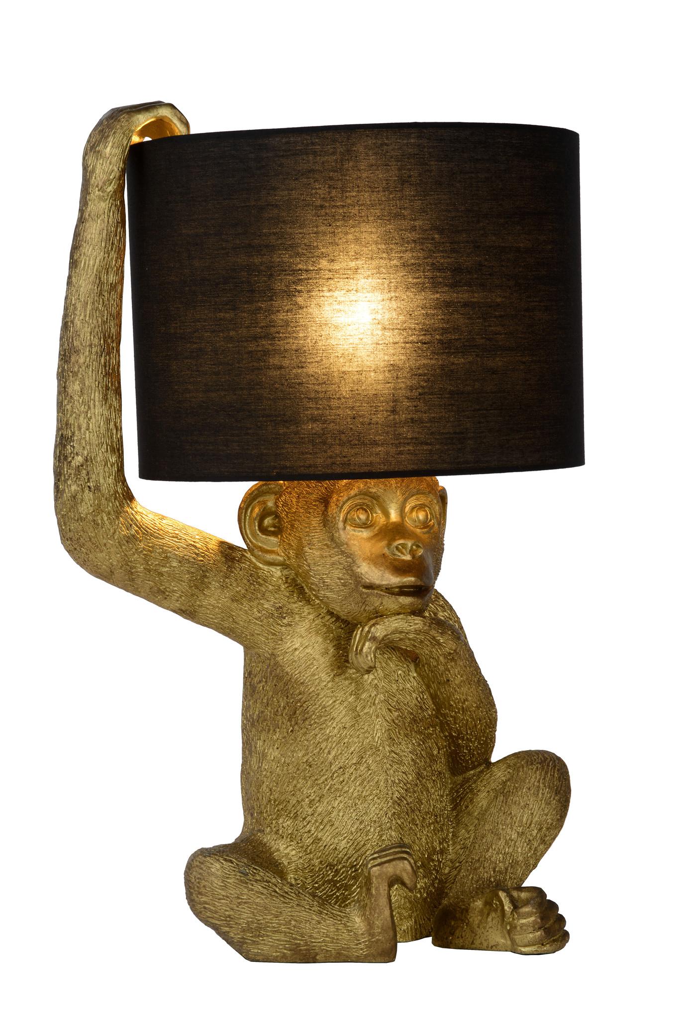Lucide CHIMP. Tafellamp-Zwart-Ø30-1xE14-40W-Kunsts.
