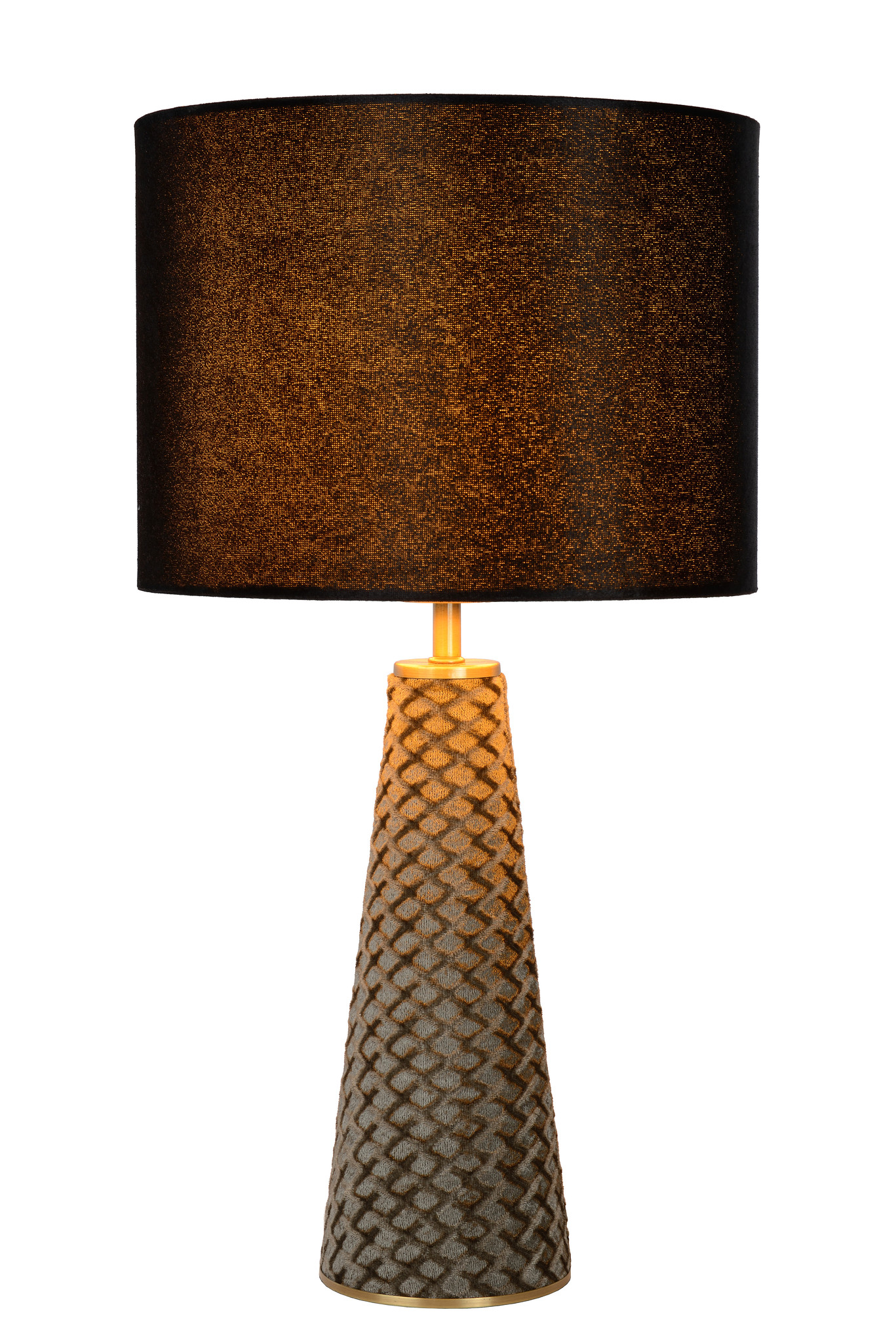 Lucide VELVET. Tafellamp-Zwart-Ø25-1xE27-40W-Metaal