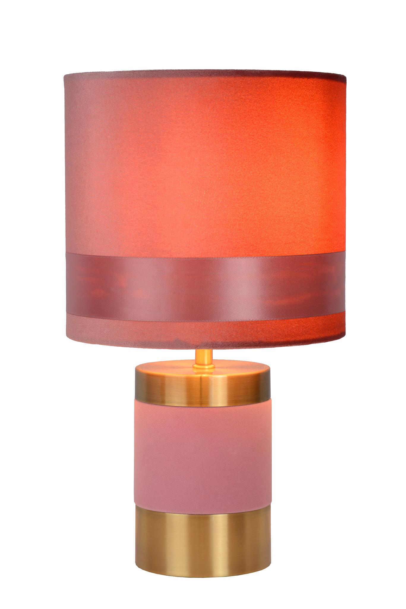 Lucide FRIZZLE Tafellamp E14/40W H32cm Roze
