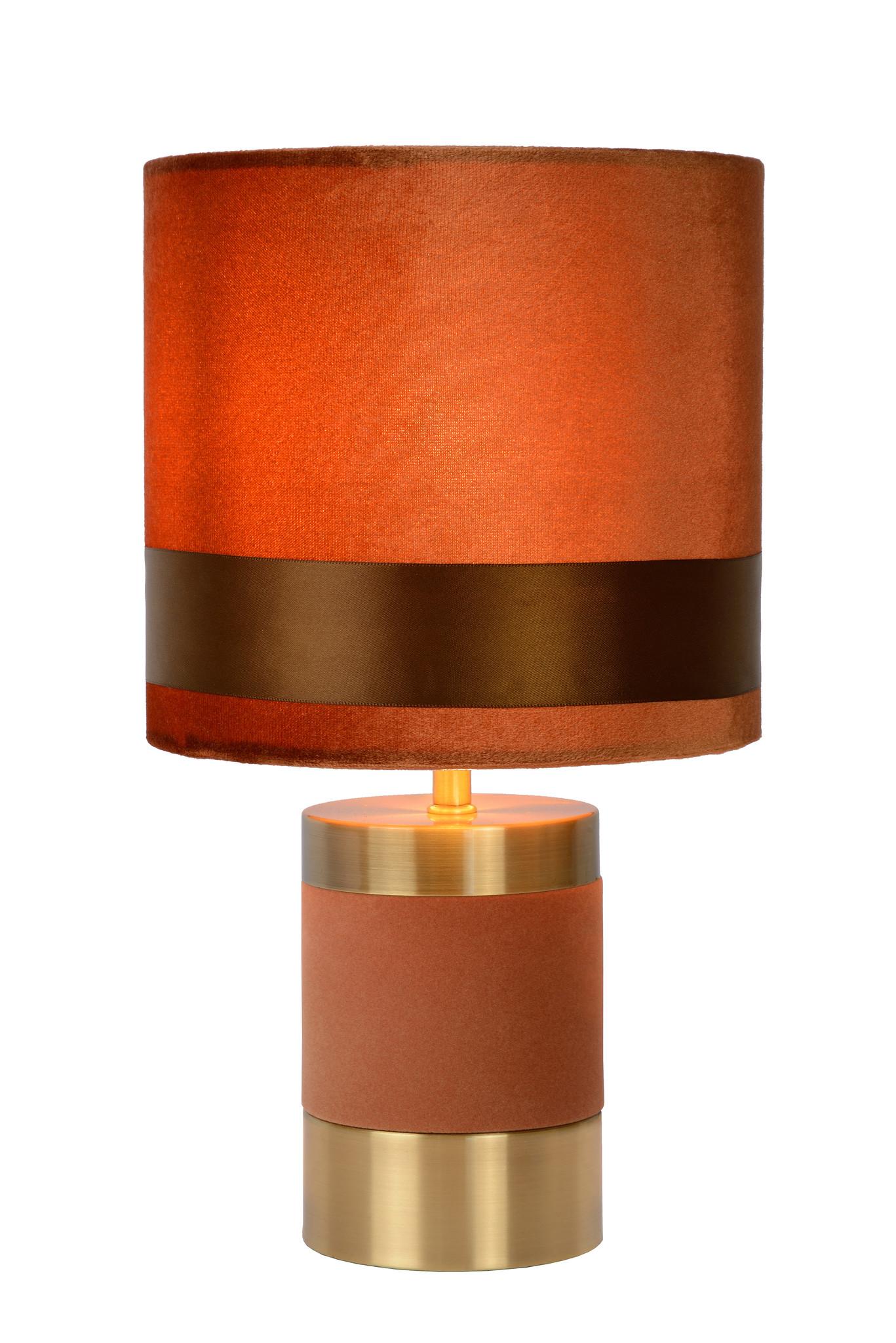 Lucide FRIZZLE Tafellamp E14/40W H32cm Bruin