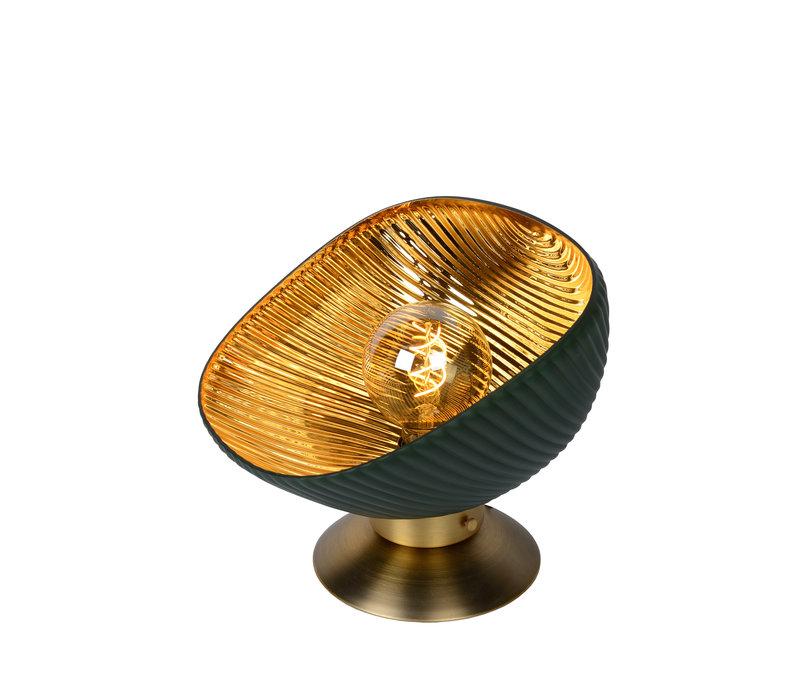 GOBLETT Tafellamp E27/40W Groen/Goud
