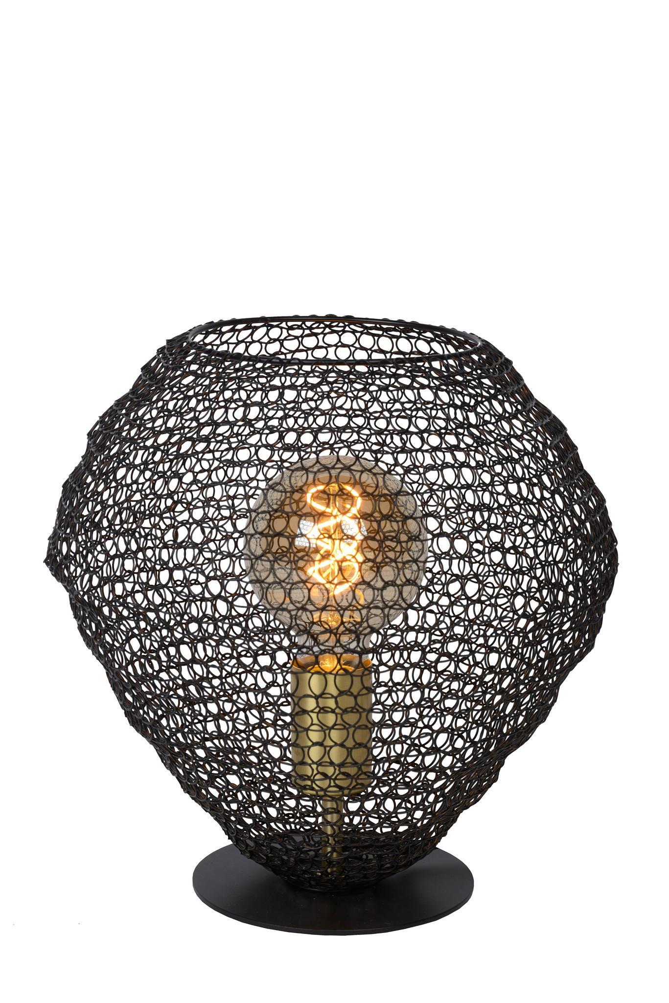 Lucide SAAR Tafellamp E27/40W H22 Zwart