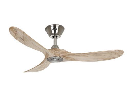 Lamponline Plafondventilator Eco Genuino Ø 122 cm mat chroom-licht hout