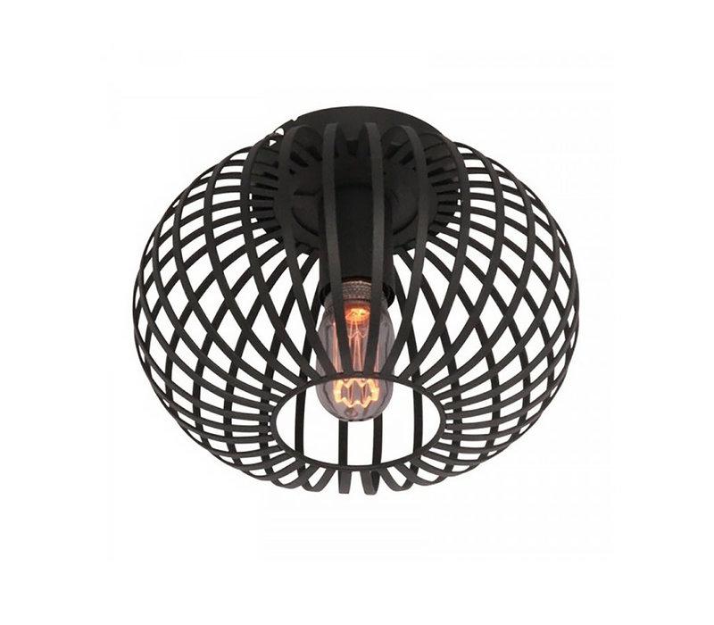 Plafondlamp Aglio Ø 25 cm zwart