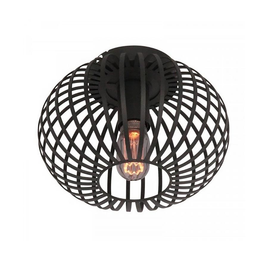 Freelight Plafondlamp Aglio Ø 25 cm zwart