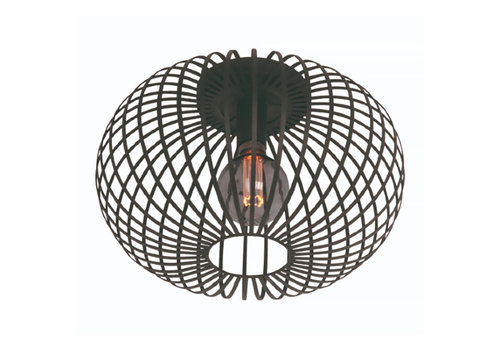 Freelight Plafondlamp Aglio Ø 40 cm zwart