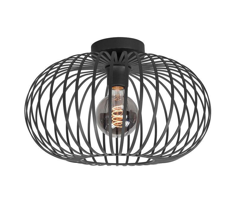 Plafondlamp Bolato Ø 38 cm zwart