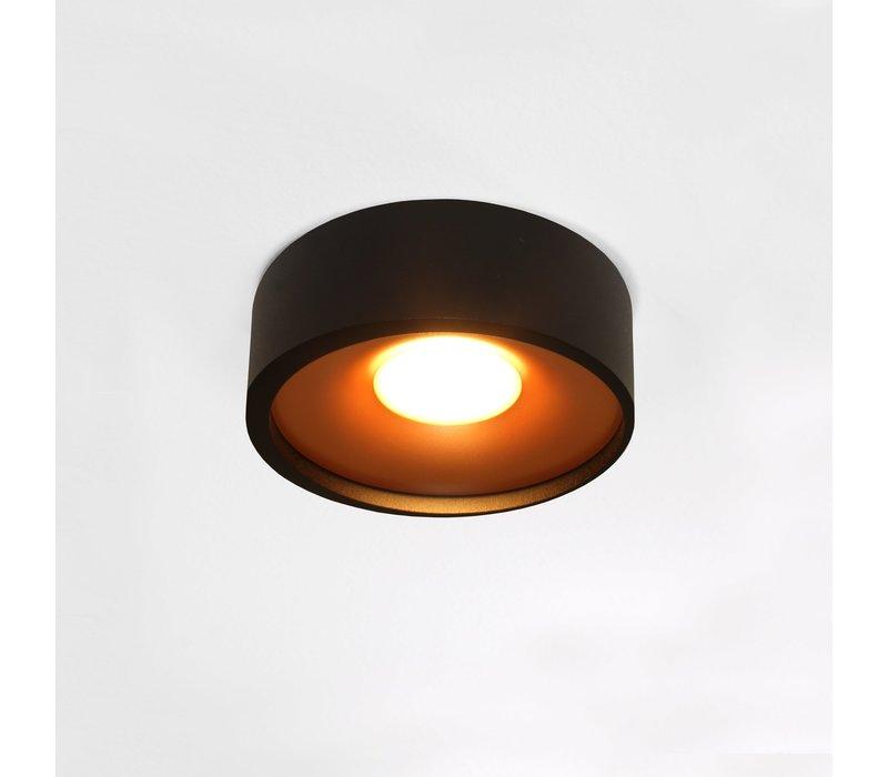 Plafondlamp Orlando  Ø 14 cm zwart-goud
