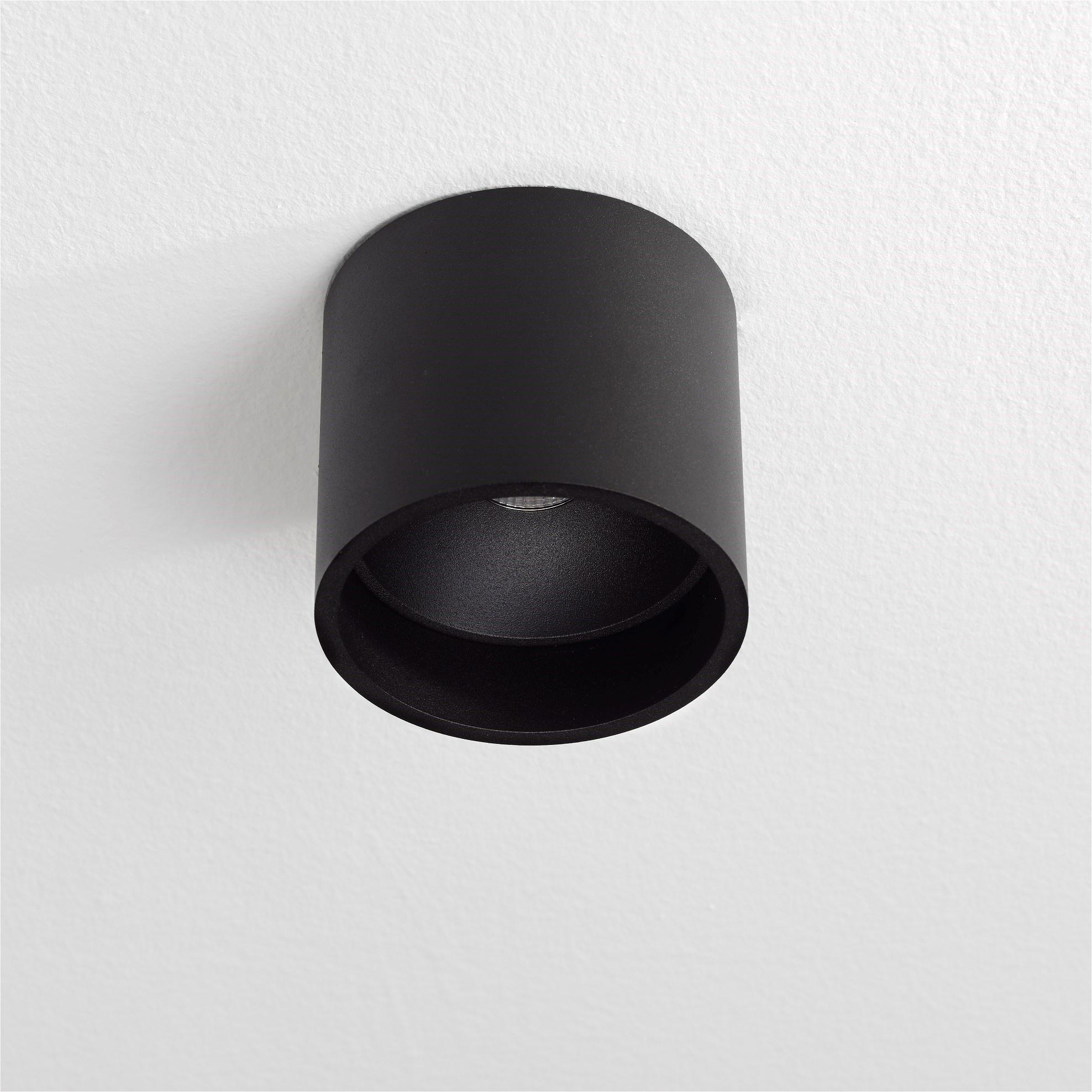 Artdelight Plafondlamp Orleans Ø 11 cm H 10 cm zwart