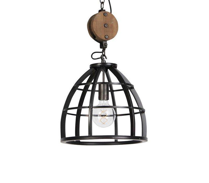 Hanglamp Birdy 3 lichts L 138 cm Ø 34 cm zwart