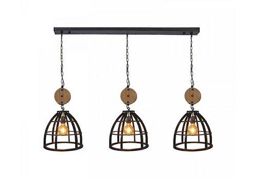 Freelight Hanglamp Birdy 3 lichts L 138 cm Ø 34 cm zwart