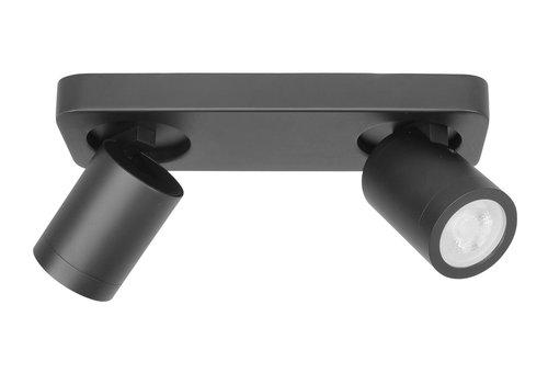 Highlight Spot Oliver 2 lichts balk badkamer IP44 zwart