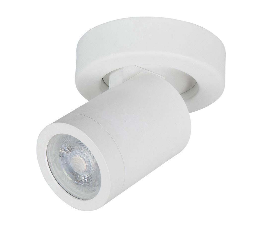 Highlight Spot Oliver 1 lichts badkamer IP44 wit