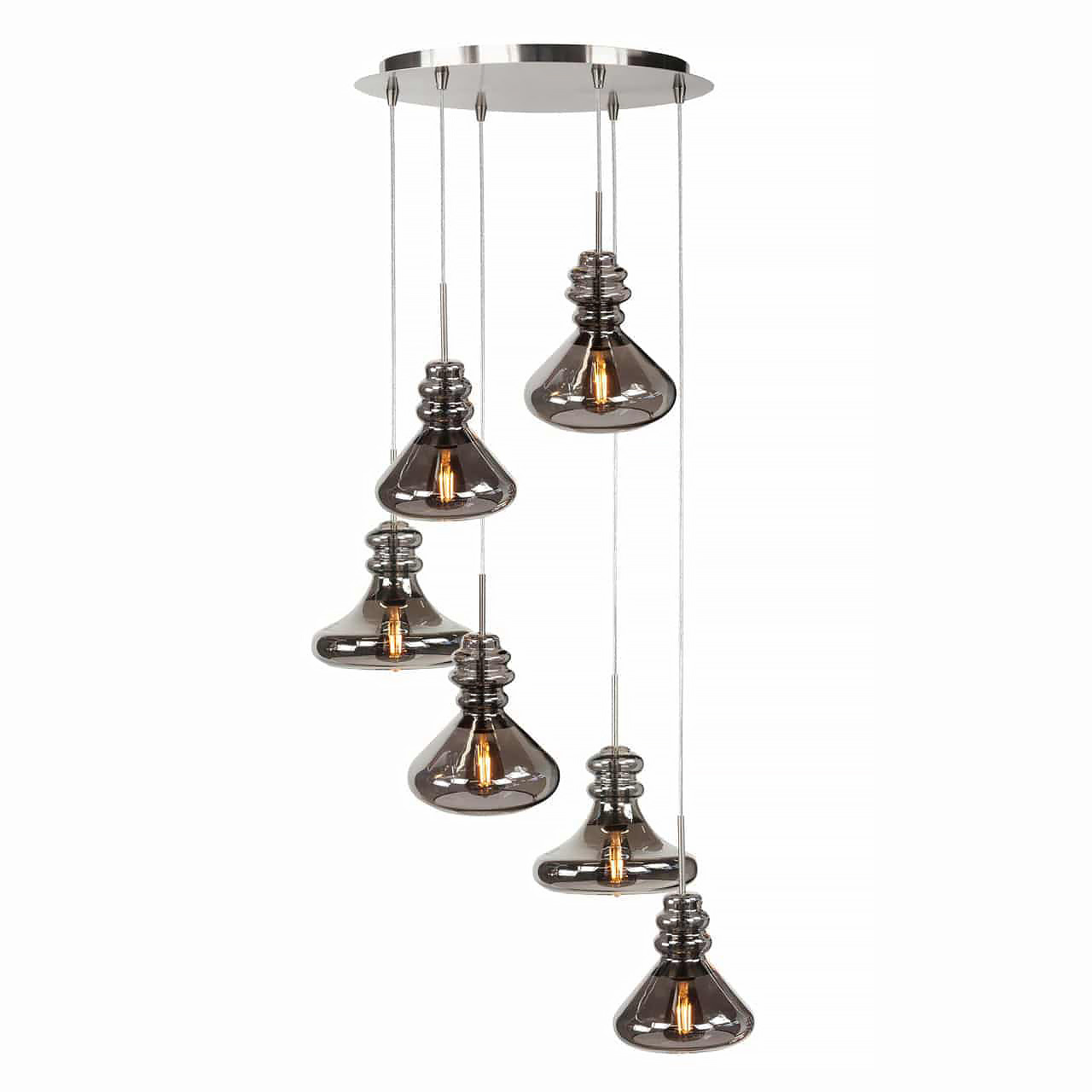 Highlight Hanglamp Astoria 6 lichts Ø 46 cm mat chroom
