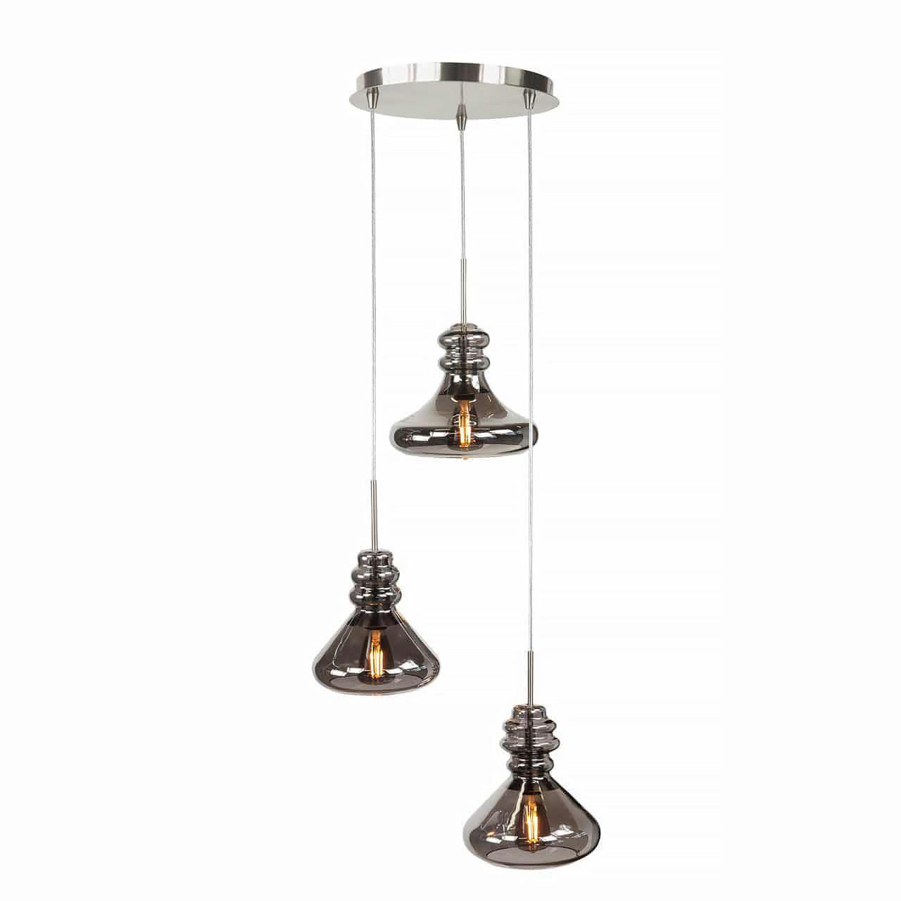 Highlight Hanglamp Astoria 3 lichts Ø 30 cm mat chroom