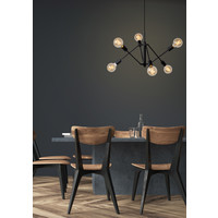 LESTER Hanglamp 6x E27/40W Zwart
