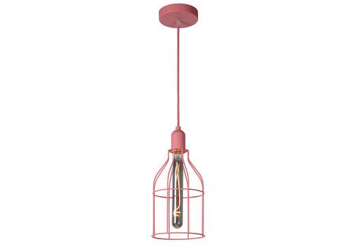 Lucide POLA Hanglamp Kinder-Roze-Ø15-1xE27-60W-Metaal
