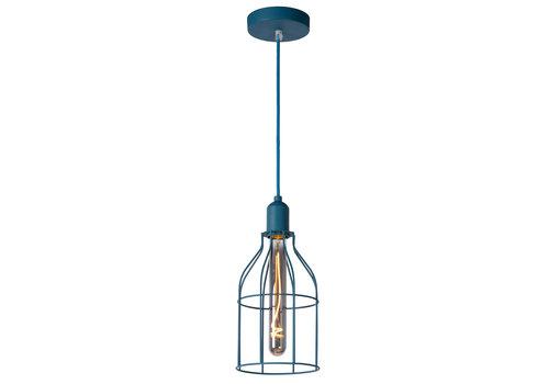 Lucide POLA Hanglamp Kinder-Blauw-Ø15-1xE27-60W-Metaal