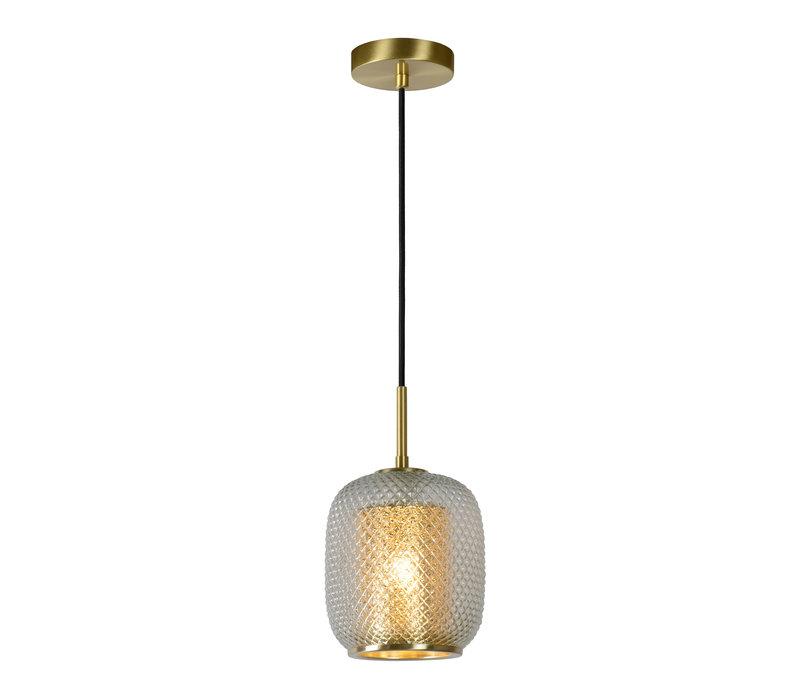 AGATHA  Hanglamp 1x E27/40W Mat Goud/Glas