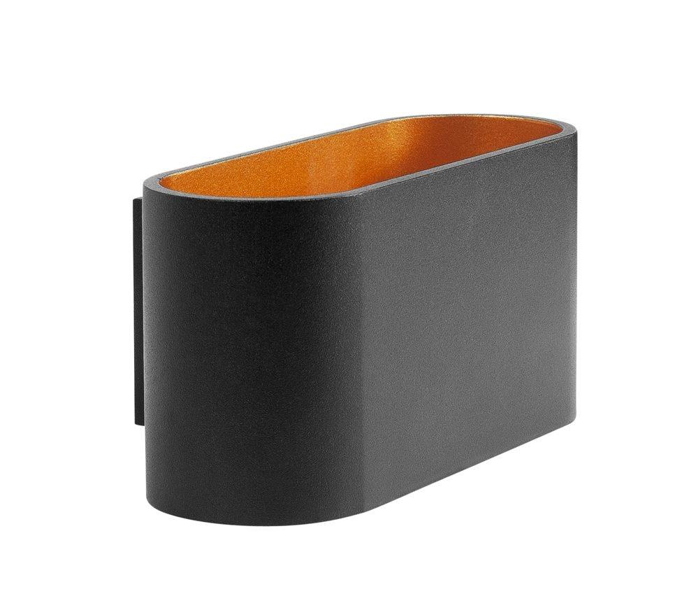 Highlight Wandlamp Oval zwart goud