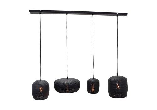 Urban Interiors Hanglamp Fez 4 lichts L 120 cm zwart
