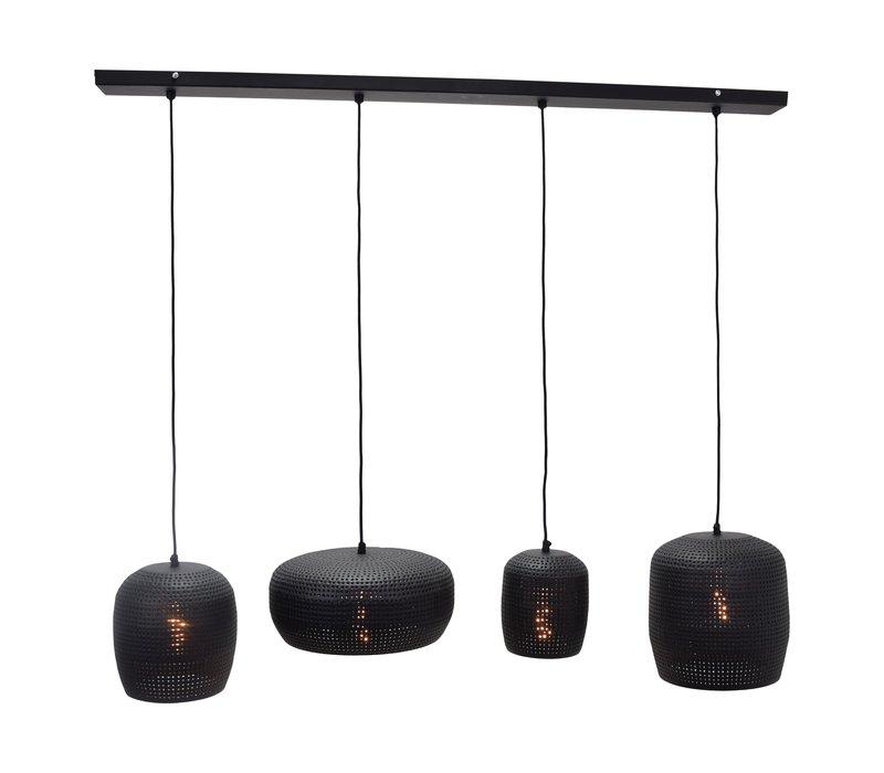 Hanglamp Fez 4 lichts L 120 cm zwart