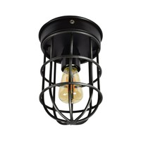 Plafondlamp Barn Ø 12 cm zwart