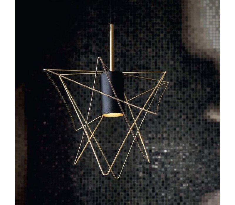 Hanglamp Gstar Ø 30 cm zwart goud