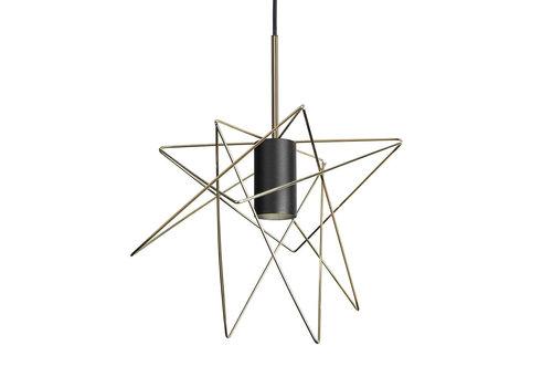 Nowodvorski Hanglamp Gstar Ø 30 cm zwart goud