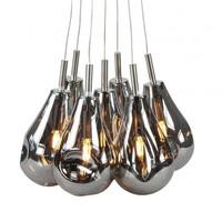 Hanglamp Granata 7 lichts Ø 40 cm rook glas