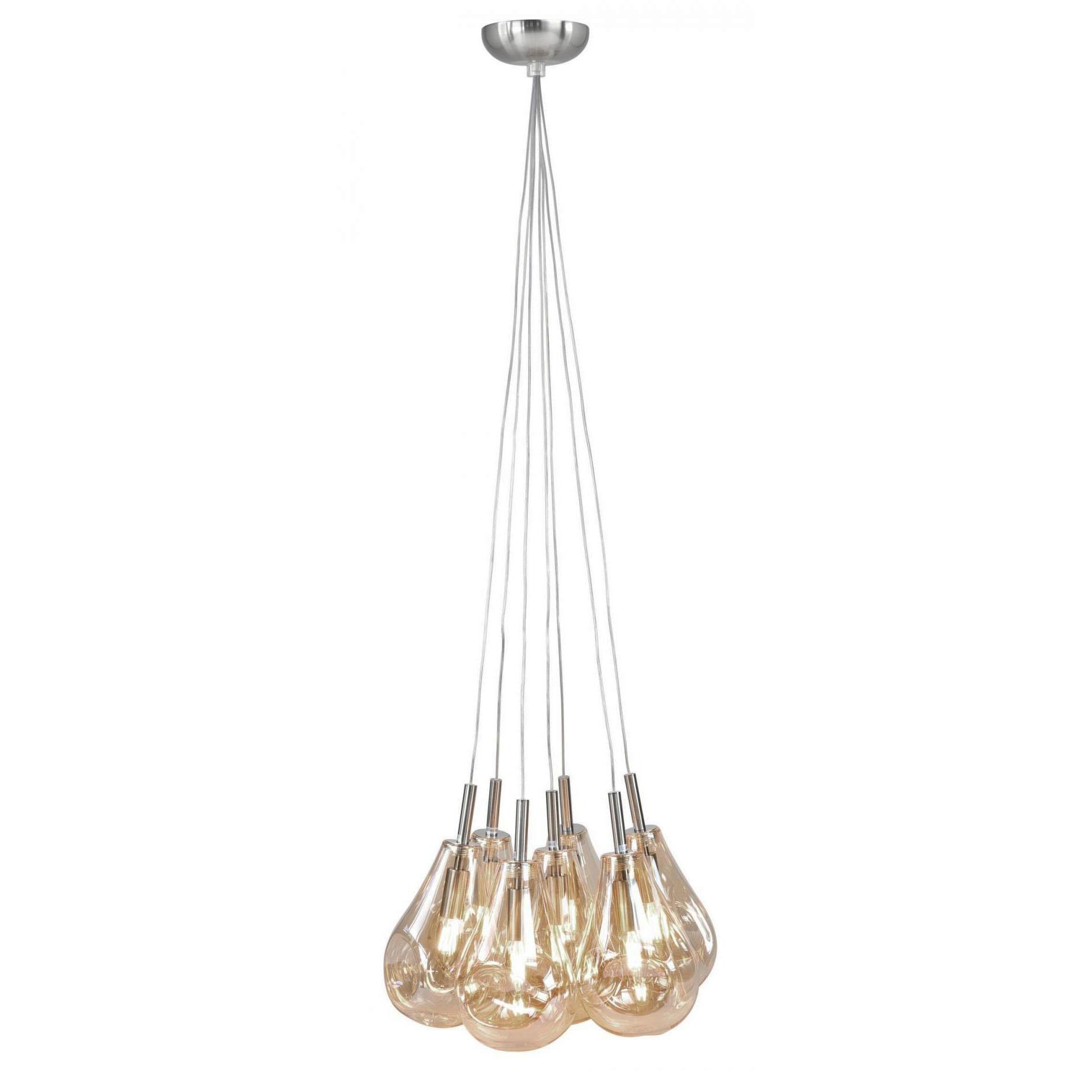 Highlight Hanglamp Granata 7 lichts Ø 40 cm amber glas