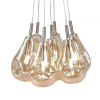 Hanglamp Granata 7 lichts Ø 40 cm amber glas
