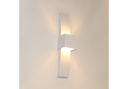 Artdelight Wandlamp Gyhum II H 39 cm B 8 cm excl. G9 wit