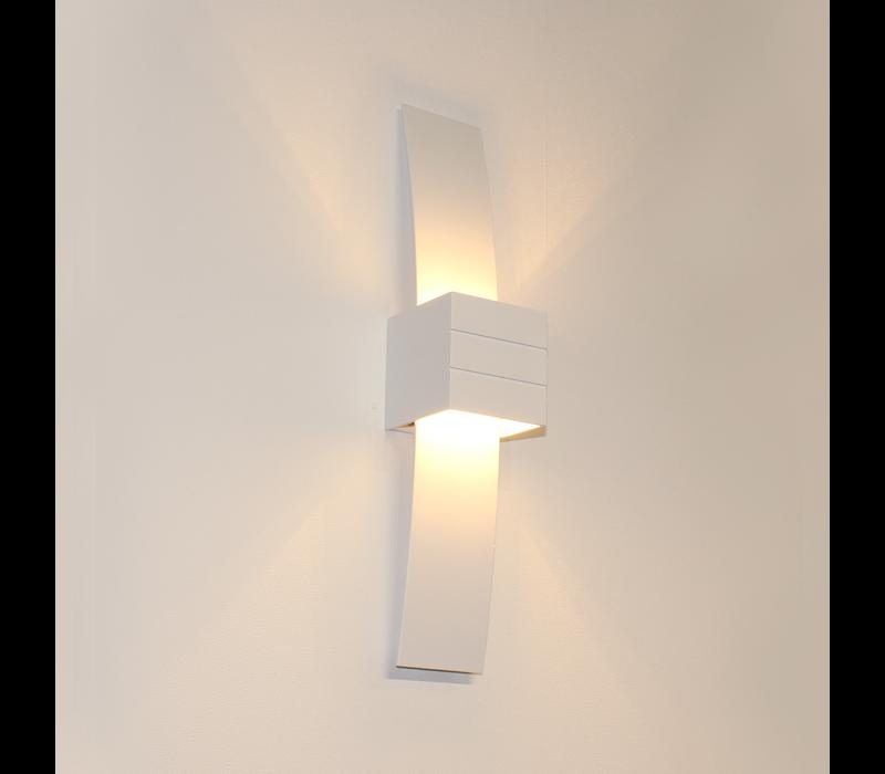Wandlamp Gyhum II H 39 cm B 8 cm excl. G9 wit