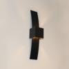 Artdelight Wandlamp Gyhum II H 39 cm B 8 cm excl. G9 zwart