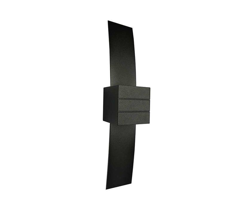 Wandlamp Gyhum II H 39 cm B 8 cm excl. G9 zwart