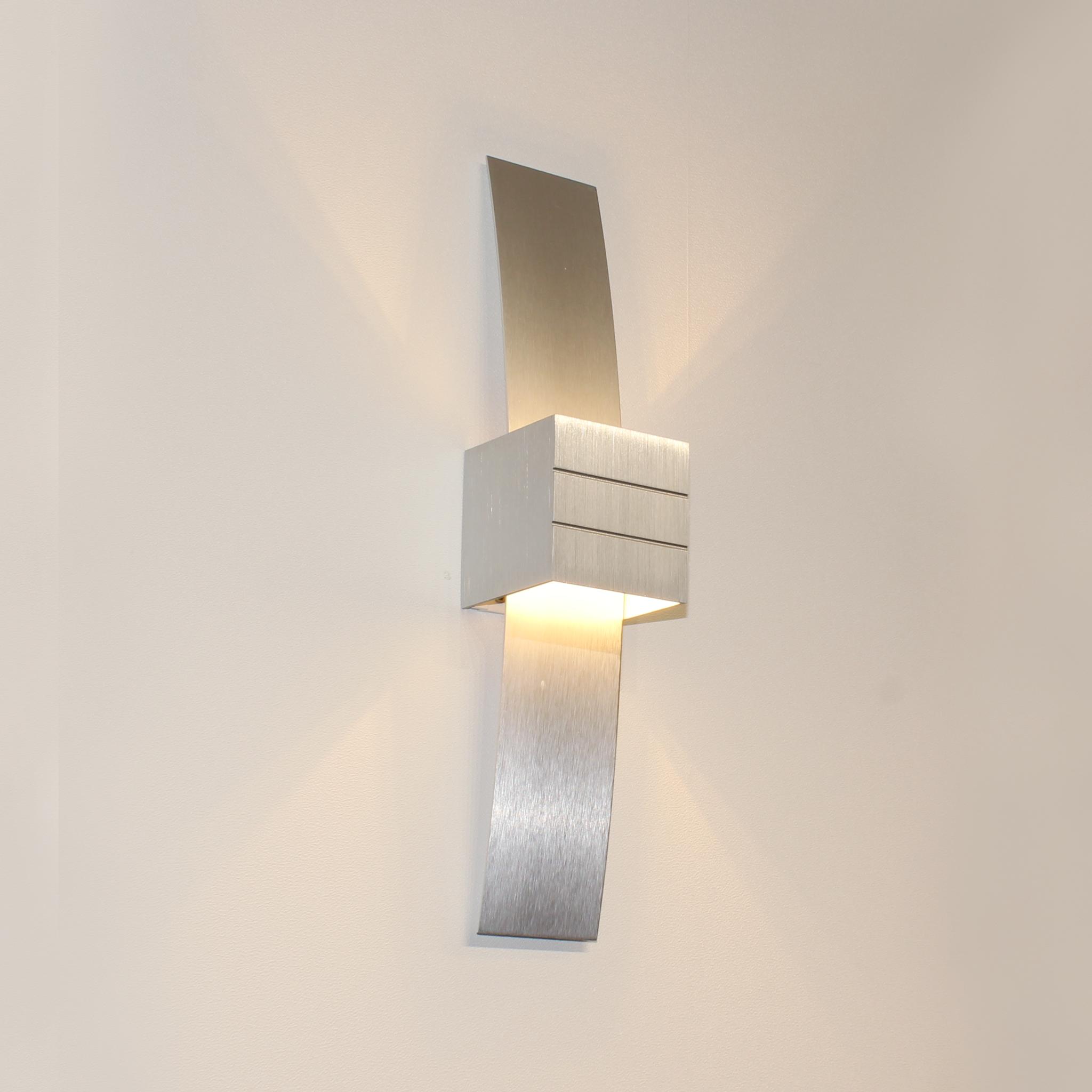 Artdelight Wandlamp Gyhum II H 39 cm B 8 cm excl. G9 aluminium
