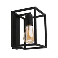 Wandlamp Crate H 20 cm B 15 cm zwart
