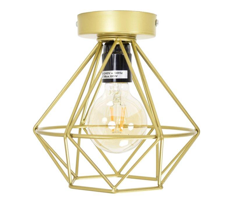 Plafondlamp Wire Ø 22 cm Mat-goud